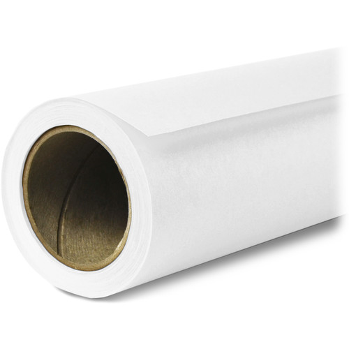 "Savage Widetone Seamless Background Paper (#01 Super White, 53"" x 36')"