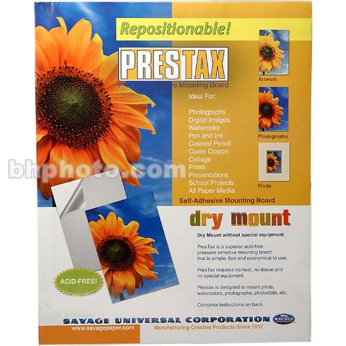 "Savage Prestax Repositionable Pressure Sensitive Mount Board - 8 x 10"""
