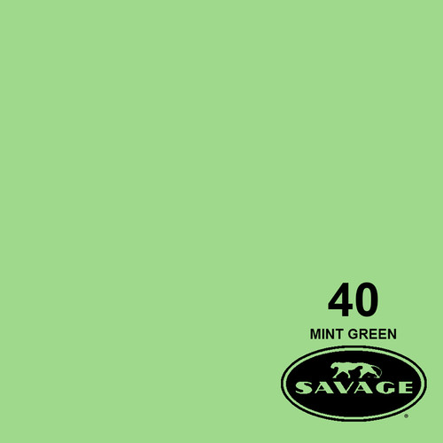 "Savage Widetone Seamless Background Paper (#40 Mint Green, 53"" x 36')"