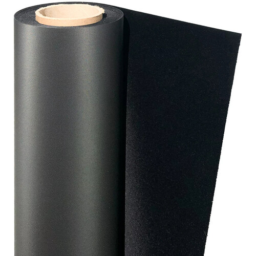 "Savage 52""x20' Velvetine Background - Midnight Black"