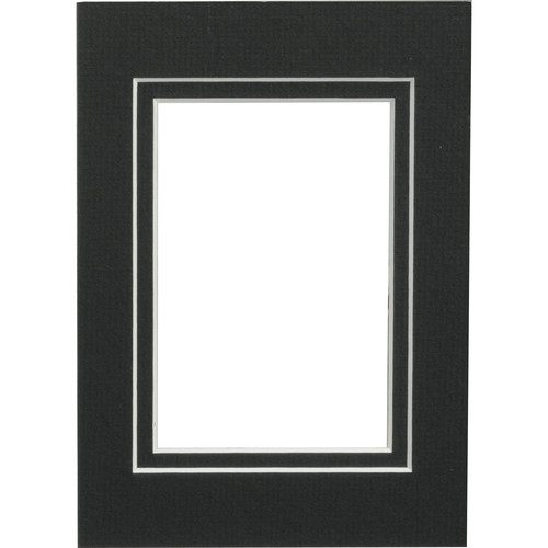 "Savage ProMatte - 5 x 7"" Mat to Hold 3.5"" x 5"" Print - Matte Black/Matte Black"