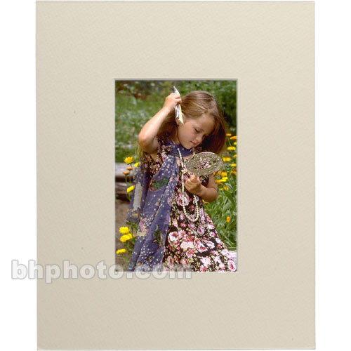 """Savage ProMatte 8 x 10"""" Double Photo Mat for 4 x 6"""" Print (Ivory)"""