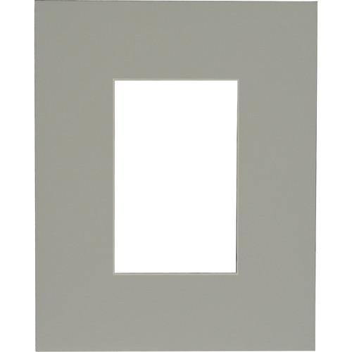 "Savage ProMatte - Single Whitecore 8 x 10"" Mat with Opening for 4 x 6"" Print - Oxford Gray"