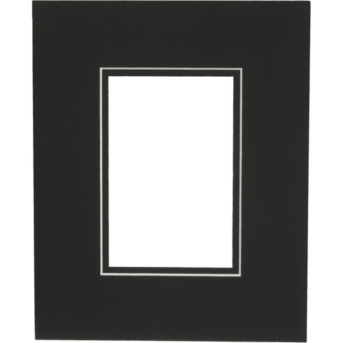 "Savage ProMatte - 8 x 10"" Mat to Hold 4 x 6"" Print - Matte Black/Matte Black"