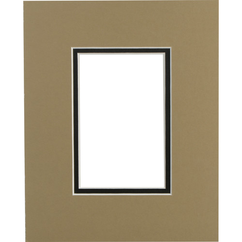 """Savage ProMatte Museum Mat (8x10"""" Mat for 4x6"""" Print - Tumbleweed/Matte Black)"""