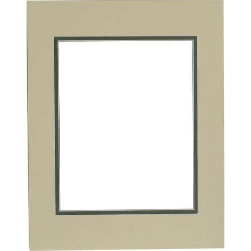 "Savage ProMatte Pre-Cut Museum Mat - Double Whitecore - 11 x 14"" Mat to Hold 8 x 10"" Print - Ivory/Cypress"