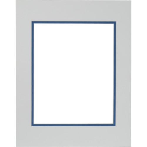 "Savage ProMatte Museum Mat (11x14"" Mat for 8x10"" Print - Polar/Nautica)"