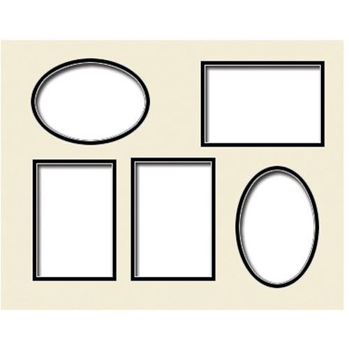 """Savage ProMatte Pre-Cut Museum Mat (11 x 14"""", Polar White/Polar White)"""
