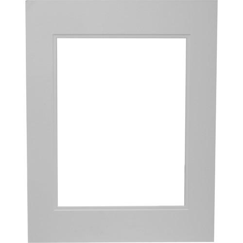 "Savage ProMatte Pre-Cut Museum Mat - Double Whitecore - 14 x 18"" Mat to Hold 10 x 13"" Print - Polar/Polar White"