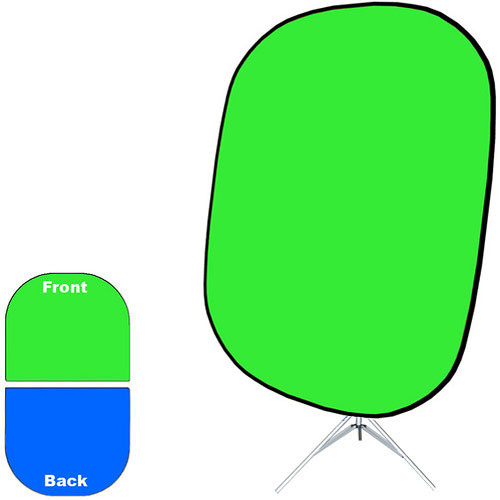 "Savage Collapsible Stand Kit (60 x 72"", Chroma Green/Blue)"