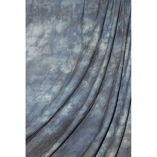 Savage Accent Crushed Muslin Background (10 x 24', Blue Winter)