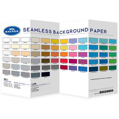 Savage Color Chart for Background Paper