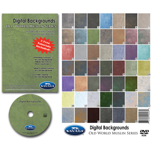 Savage DVD-ROM: Digital Backgrounds (Old World Muslin)