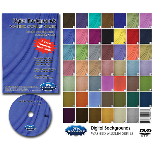 Savage DVD-ROM: Digital Backgrounds (Washed Muslin)
