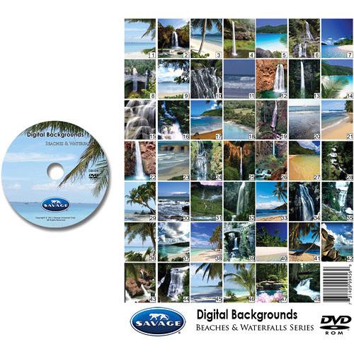 Savage DVD-ROM: Digital Backgrounds (Beaches/Waterfalls)