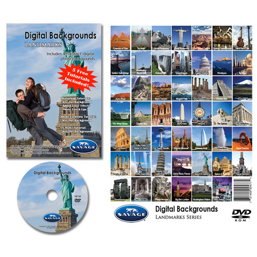 Savage DVD-ROM: Digital Backgrounds (Famous Landmarks)