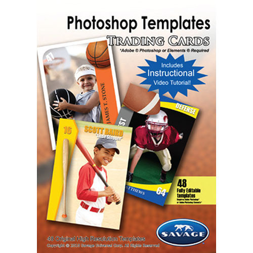 Savage Trading Card Photoshop Templates