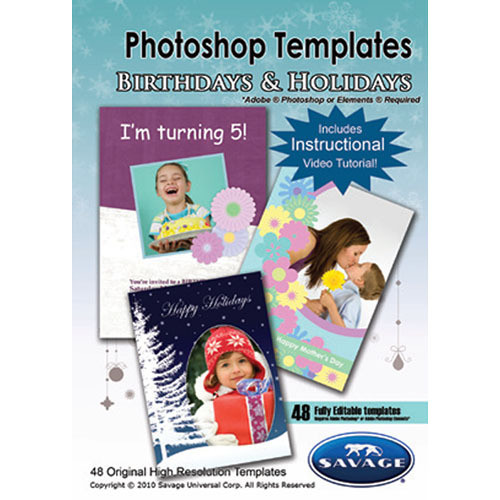 Savage Birthday & Holiday Photoshop Templates