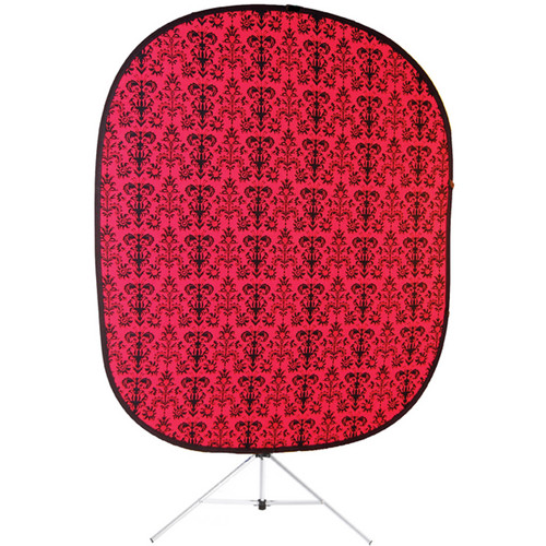 Savage RCB202-KIT Accent Retro Collapsible Background with Stand (5 x 6', Red)