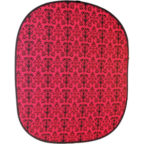 Savage RCB202 Accent Retro Collapsible Background (5 x 6', Red)