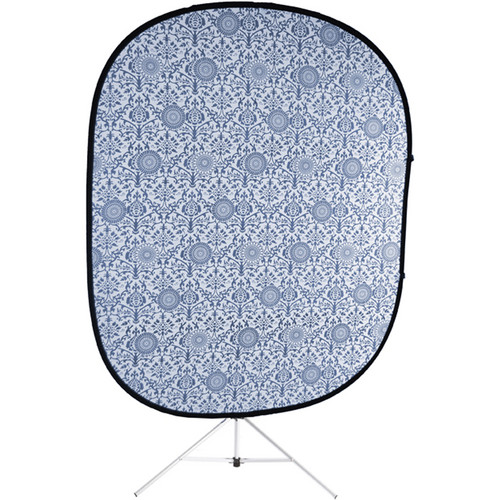 Savage RCB206-KIT Accent Retro Collapsible Background with Stand (5 x 6', Blue)