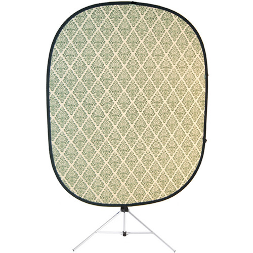 Savage RCB208-KIT Accent Retro Collapsible Background with Stand (5 x 6', Green)