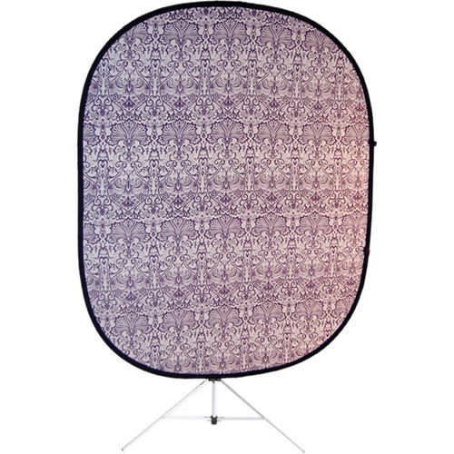 Savage RCB210-KIT Accent Retro Collapsible Background with Stand (5 x 6', Purple)