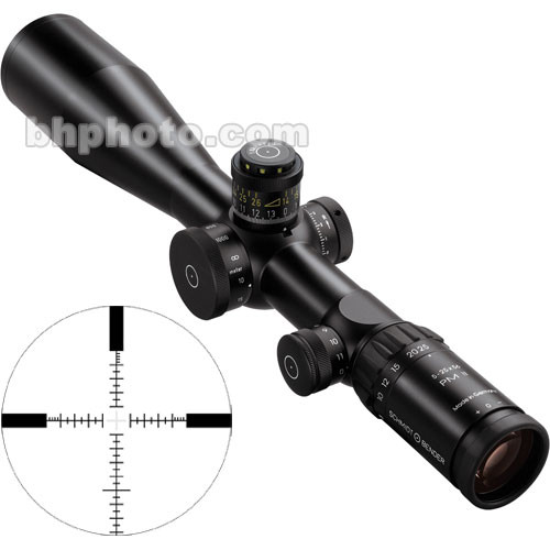 Schmidt & Bender 5-25x56 Police Marksman II LP Riflescope with P4 Reticle
