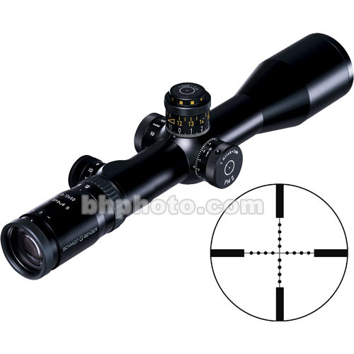 Schmidt & Bender 3-12x50 Police Marksman LP II Riflescope with Illuminated P3 Mil-Dot Reticle