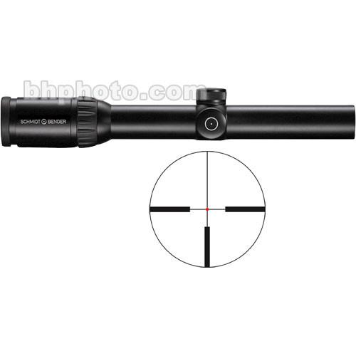 Schmidt & Bender 1.1-4x24 Zenith Waterproof & Fogproof Riflescope (18.2-5.7 Degree Angle of View) with Illuminated #7 FlashDot Reticle (Matte)