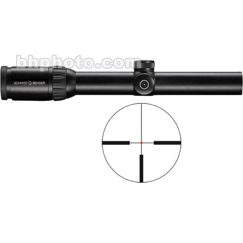Schmidt & Bender 1.1-4x24 Zenith Riflescope with Illuminated #7 FlashDot Reticle