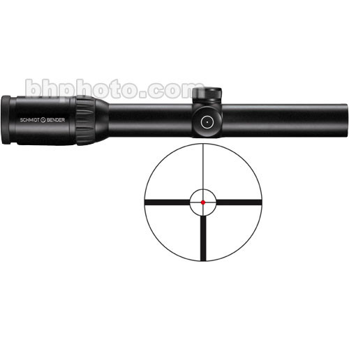 Schmidt & Bender 1.1-4x24 Zenith Riflescope with Illuminated #9 FlashDot Reticle