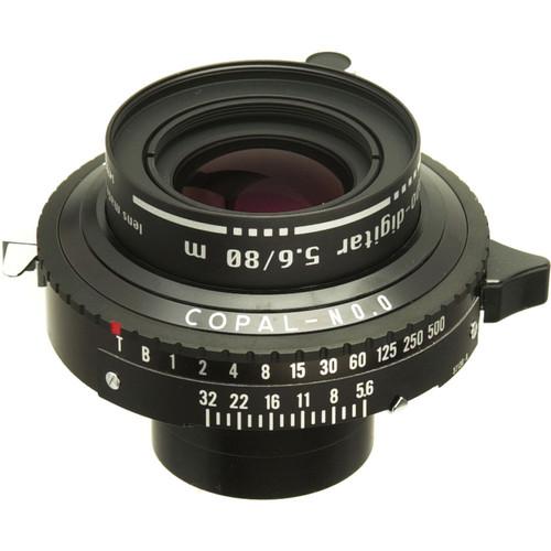 Schneider 80mm f/5.6 Apo Digitar M Lens w/ Copal #0 Shutter