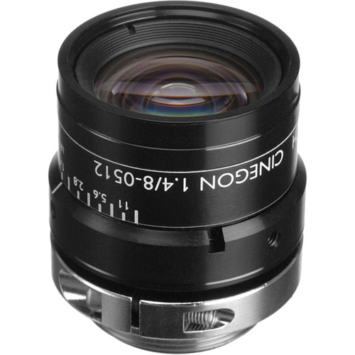 "Schneider 21041823 2/3"" 8mm f/1.4 C-Mount Cinegon Compact Lens"