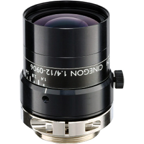 "Schneider 21022892 2/3"" 12mm f/1.4 C-Mount Cinegon Compact Fixed Focal Lens"