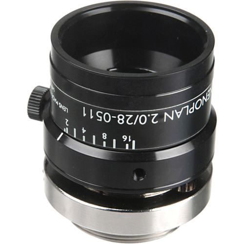 "Schneider 21-1001972 1.3"" 28mm f/2.0 C-Mount Xenoplan Compact Lens"