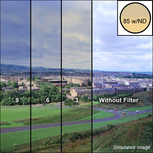 """Schneider 4x5.65"""" Combination Color Conversion 85/Neutral Density (ND) .3 (1-stop) Water White Glass Filter"""