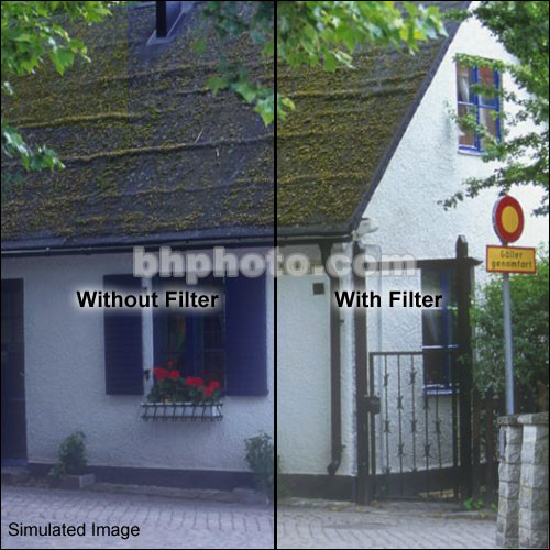 "Schneider 9.5"" 85 Color Conversion Water White Glass Filter"