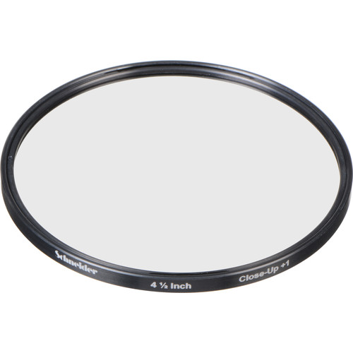 """Schneider 4.5"""" Water White +1 Full Field  Diopter Lens (Close-up Filter)"""