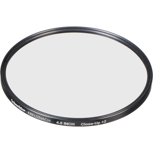 """Schneider 4.5"""" Water White +2 Full Field  Diopter Lens (Close-up Filter)"""
