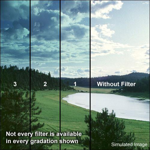 "Schneider 5.65x5.65""  Graduated Paradise Blue 3 Water White Glass Filter"