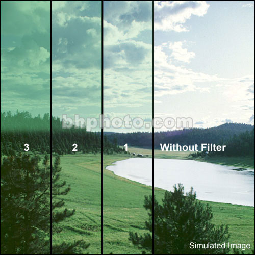 "Schneider 5.65x5.65""  Graduated Storm Blue 2 Water White Glass Filter"