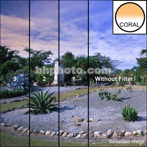 "Schneider 6.6x6.6"" Graduated Coral 1 Water White Glass Filter"