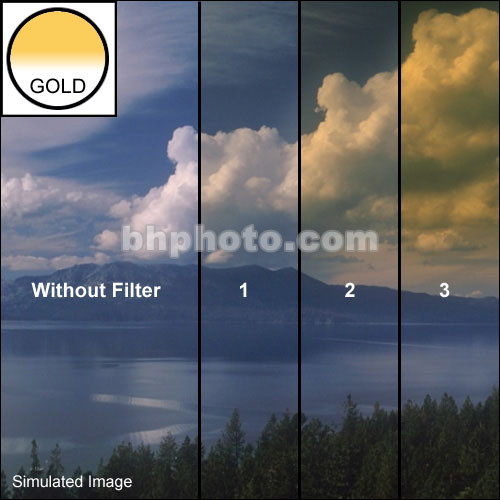 """Schneider 4x4""""  Graduated Gold 3 Water White Glass Filter"""