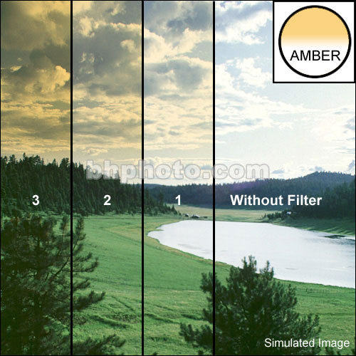 "Schneider 4x4"" Graduated Amber 3 Water White Glass Filter"