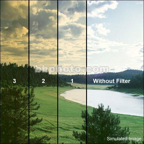 "Schneider 5 x 5"" Color Graduated Amber 1 Filter (Soft Edge )"