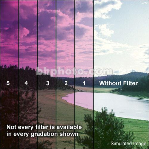 "Schneider 5x5"" Solid Color Magenta 1 Water White Glass Filter (Soft Edge )"