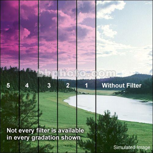 """Schneider 5.65x5.65""""  Graduated Magenta 3 Water White Glass Filter"""