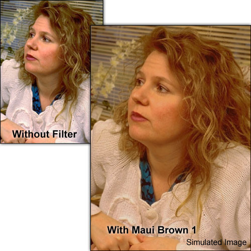 """Schneider 6.6x6.6"""" Solid Color Maui Brown 1  Water White Glass Filter"""