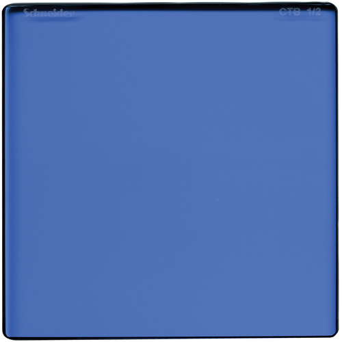 "Schneider 5 x 6.5"" Color Temperature Blue 1/2 Filter"